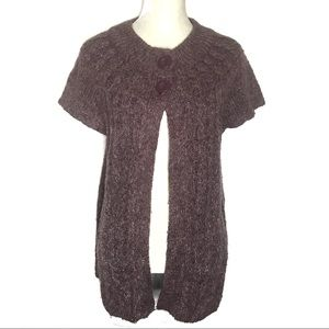 Sonoma chunky cable knit short sleeve cardigan